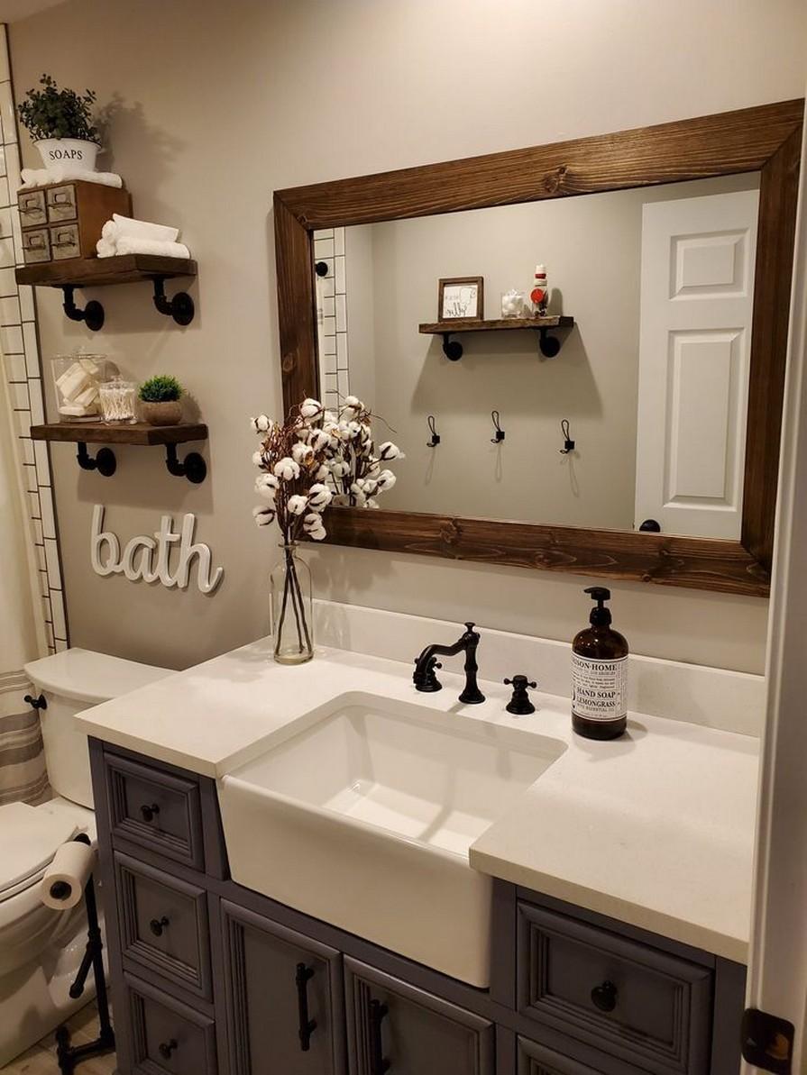 10 Farmhouse Bathroom Remodel Home Decor 10