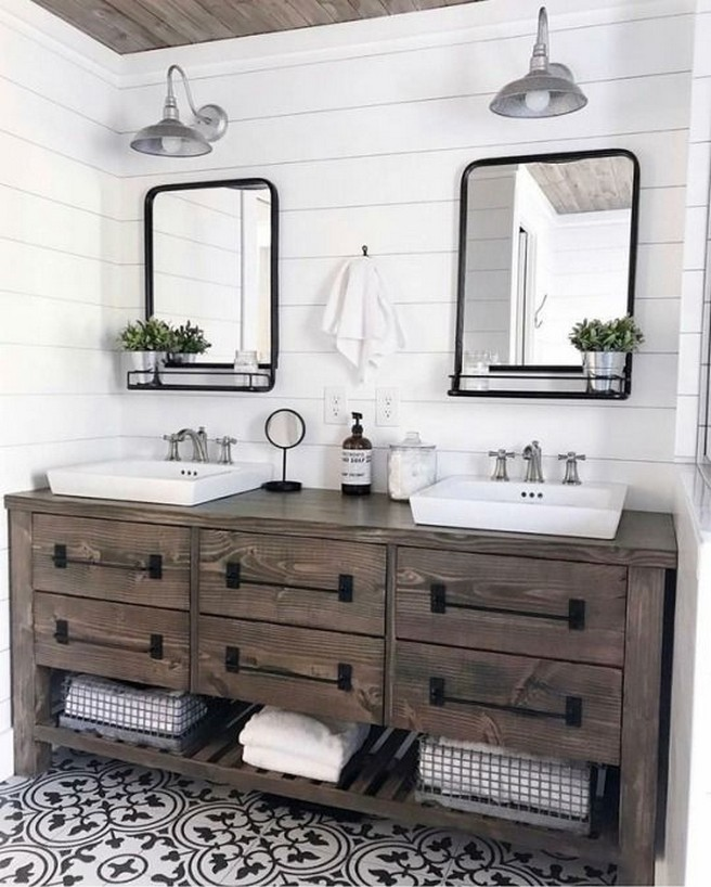 10 Farmhouse Bathroom Remodel Home Decor 12