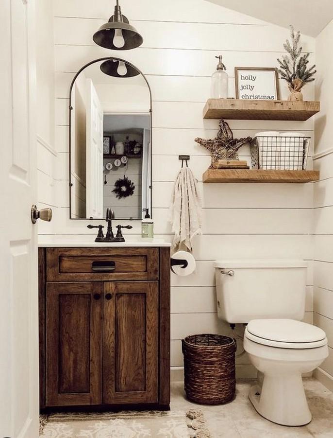 10 Farmhouse Bathroom Remodel Home Decor 18
