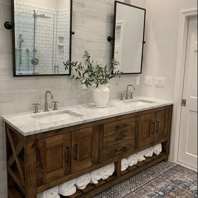 10 Farmhouse Bathroom Remodel Home Decor 3
