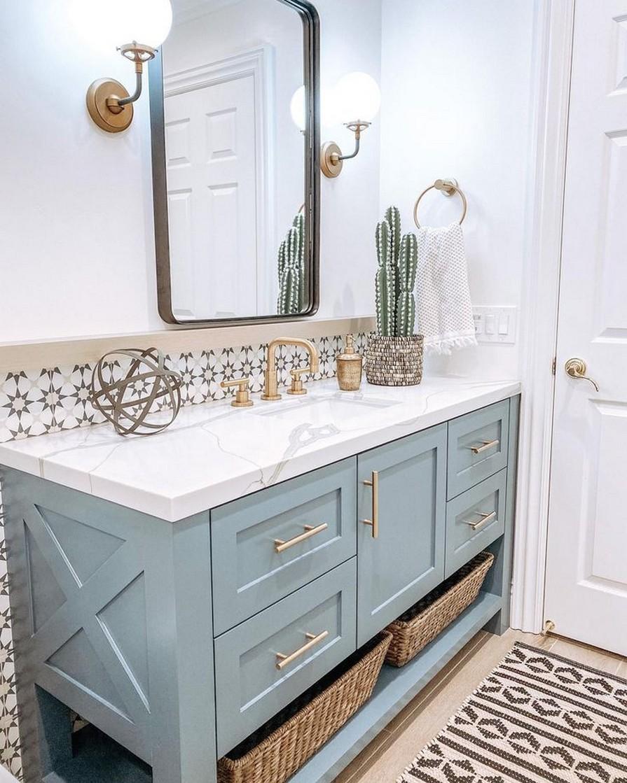 10 Farmhouse Bathroom Remodel Home Decor 8
