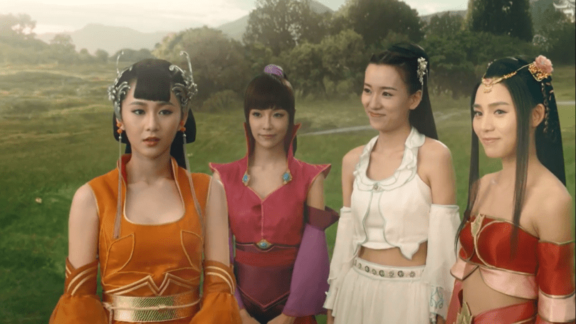 The Xiao Yu Family. Xiao Yu Yao Yao is the one in orange and I'm not sure who is who of the other three