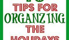 10 holiday organizing tips