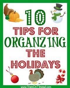 10 holiday organizing tips