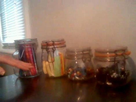 Re-using mason jars with The FUN Organizer of www.DreamSpaceOrganizing.com