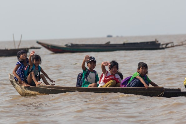 Cambodia Watervillage Schoolkids