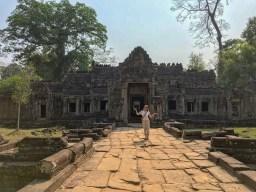 Katja in Angkor
