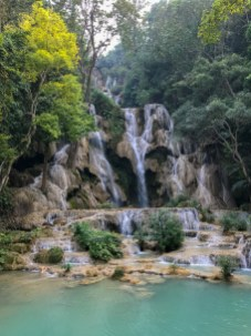Multistage waterfall near Luang Prabang