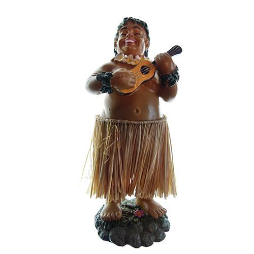 HAWAII POPPETJE Dashboard Hula Man Ukelele