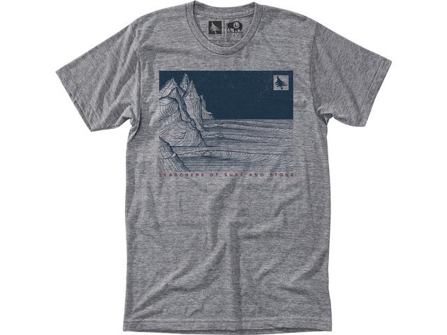 Hippy Tree Night Break T-shirt Heather Grey - XL