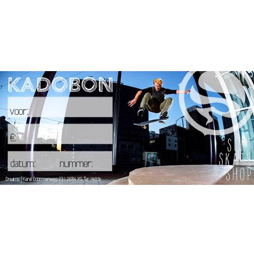 Kadobon Dreamsshop skater - 5,00