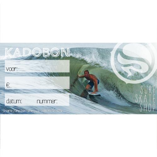 Kadobon surfles - 60,- Vaderdagsurf - Vader + 2 kinderen