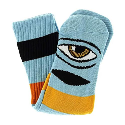 Sect Eye Big Stripe Sock Baby Blue