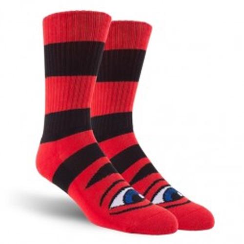 Sect Eye Big Stripe Sock Red OS
