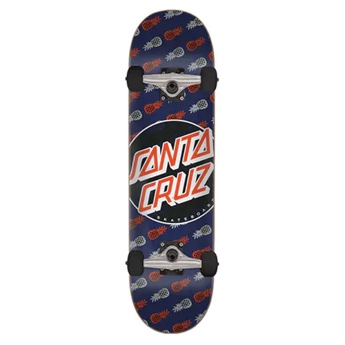 Skateboard complete Santa-Cruz tropic dot blue 7.75