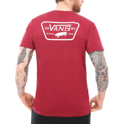 Vans Full Patch Back Shirt Rhumba Red White - S