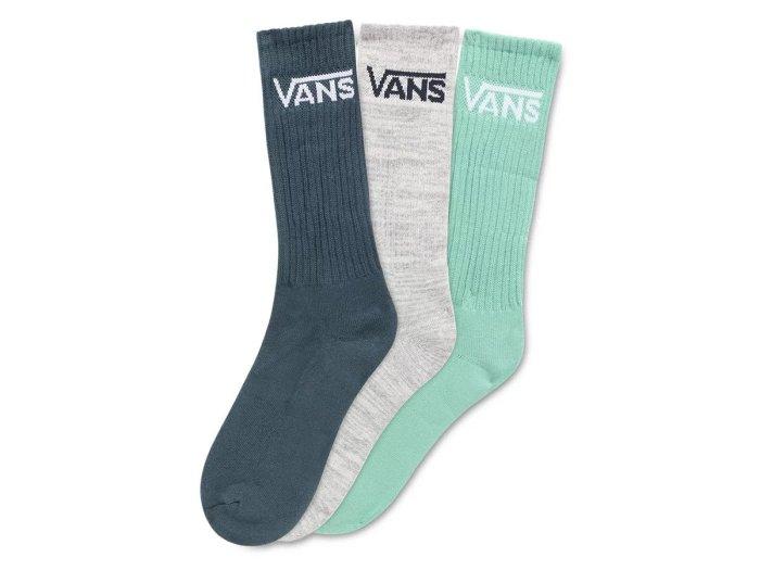 Classic crew 9.5 / 3 paar sokken / jade / grijs / donkerblauw