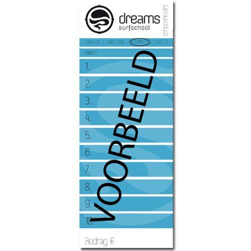 Surfteens Strippenkaart - strippenkaart 10x