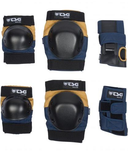 TSG Basic Blue/Yellow Protection Set Large
