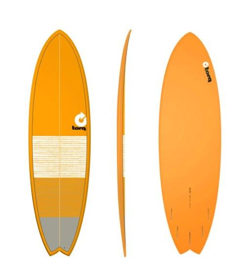 "Torq Fish 6'3"" Orange Lines"