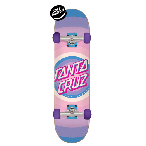 Skateboard complete santa cruz gleam dot mini