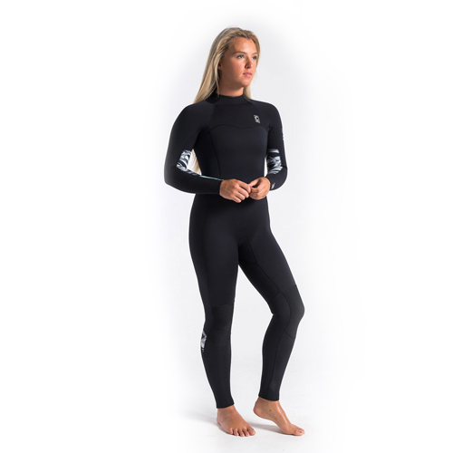 C-Skins Solace 5x4x3 Womans Back Zip Streamer Antr/Mono Shells - 6