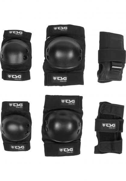 Tsg Basic Black Protection Set Junior