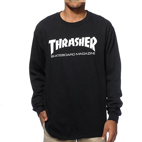 THRASHER SHIRT Skate Mag Long Sleeve Black