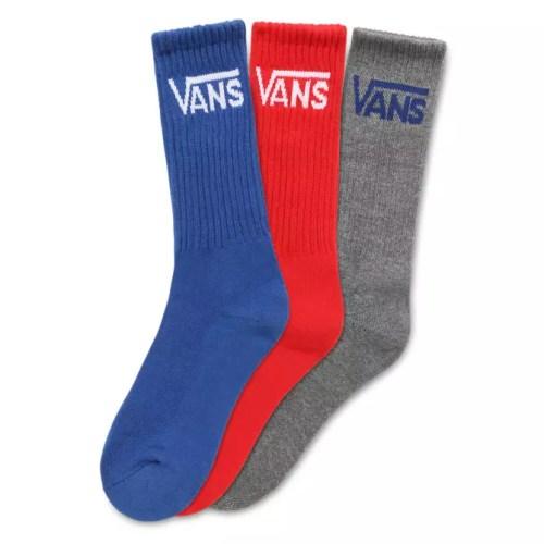 Classic Crew Boys Racing Red Socks 3 Pack Maat 31.5-38