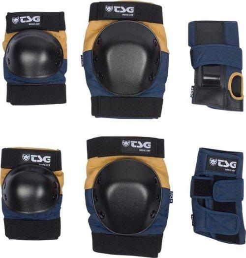TSG Basic Beschermers Set Blue/Yellow