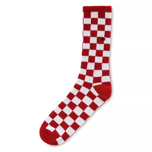 Vans Checkerboard Crew II Sokken Red-White