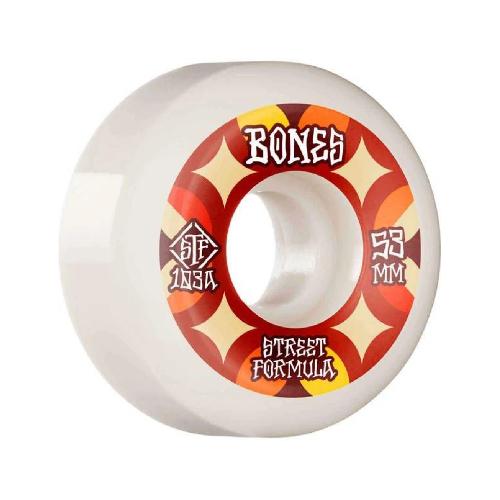 Bones STF Retros V5 Sidecut Wheels 103a 53mm White