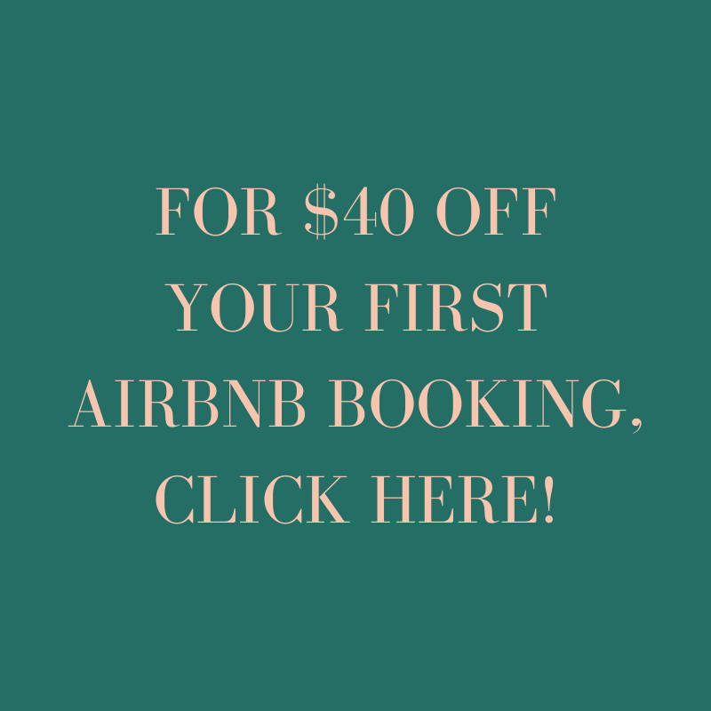 DISCOUNT FOR FIRST RESERVATION WITH AIRBNB