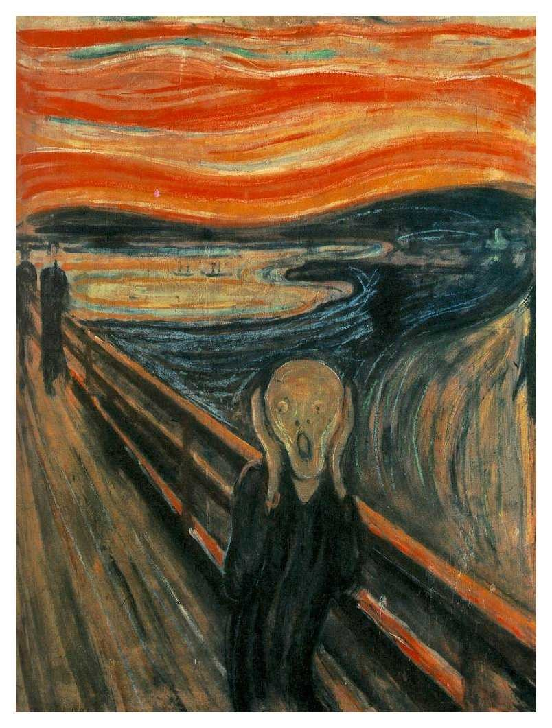 Munch, Edward. 1893. The Scream. Oil on Canvas. National Gallery in Oslo