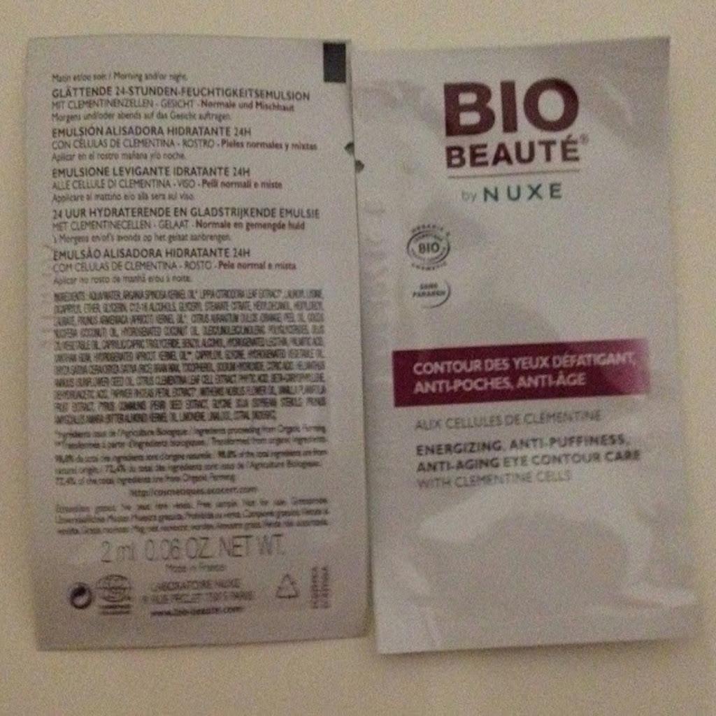 Bio Beauté By Nuxe Light Emulsion Clementine Tube & Contour des Yeux de Bio Beauté by Nuxe