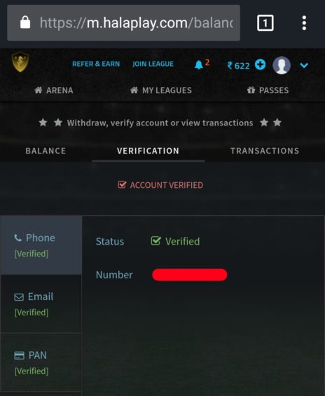 Halaplay Account Verification