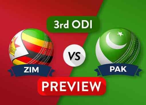 ZIM vs PAK 3rd ODI Dream11 Team Prediction and Probable XI: Preview