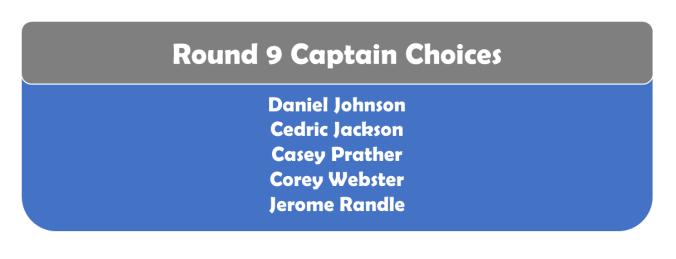 Round 9 Captains