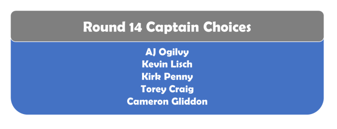 Round 14 Captains