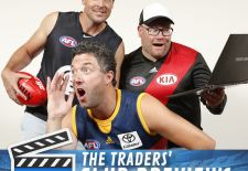during the AFL Fantasy Traders photo session at AFL House, Melbourne on January 21, 2015. (Photo: Justine Walker/AFL Media)
