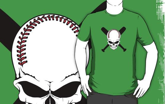 Baseball Jolly Roger T-Shirt