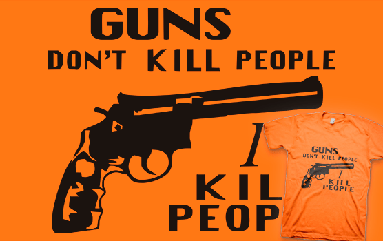 Happy Gilmore T-shirt – Guns Don't Kill People, I Kill People