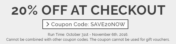 20% off at checkout