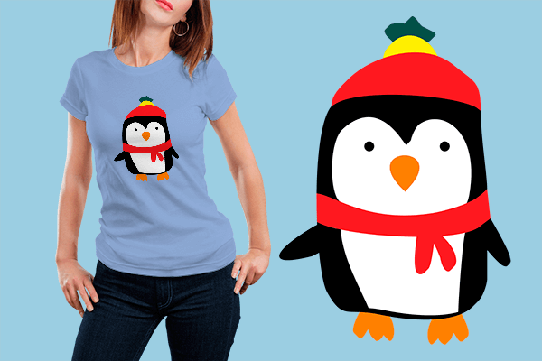 Hand Drawn Penguin T-shirt