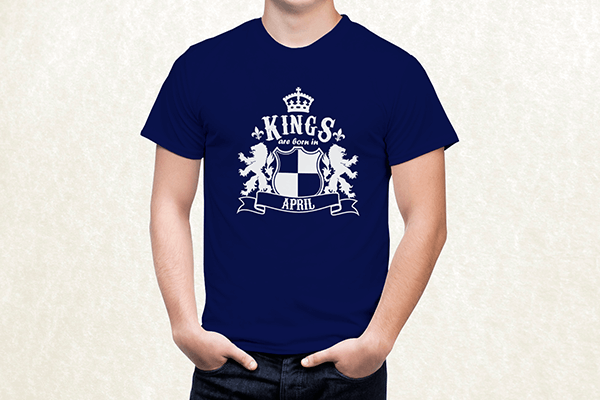 Kings are born in April T-shirt