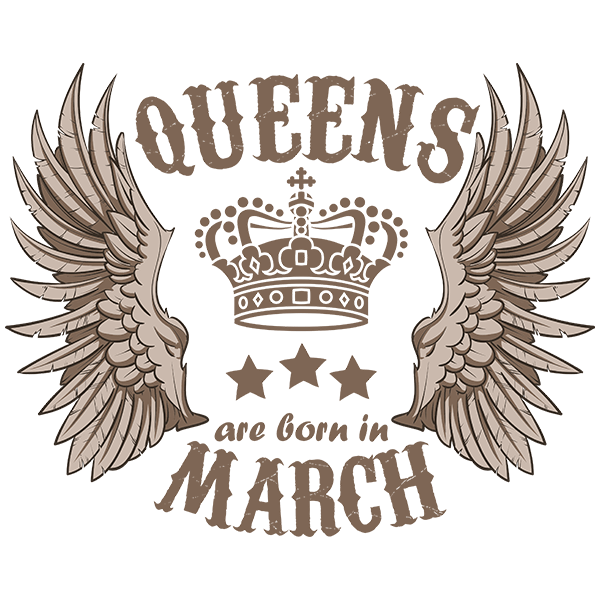 Queens are born in March T-shirt