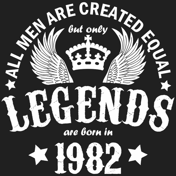 All Men are Created Equal But Only Legends are Born in 1982 T-shirt