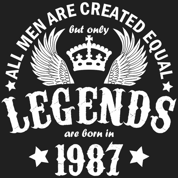 All Men are Created Equal But Only Legends are Born in 1987 T-shirt