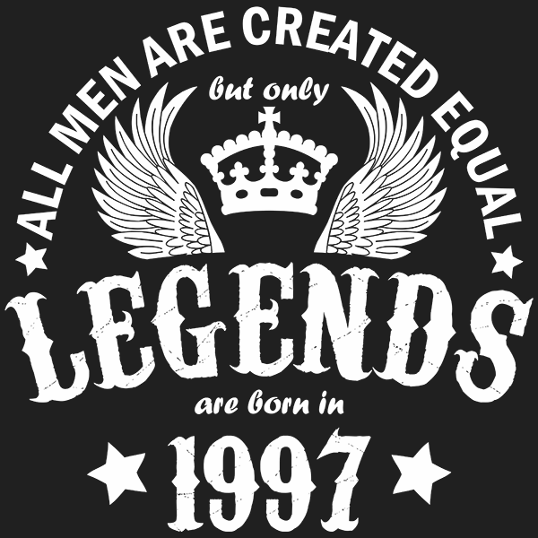 All Men are Created Equal But Only Legends are Born in 1997 T-shirt