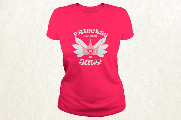 Princess Are Born In July T-shirt